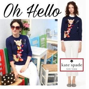 New!♠️Kate Spade Oh Hello Sweater!